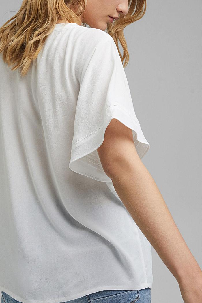 Kurzärmelige Bluse aus LENZING™ ECOVERO™, OFF WHITE, detail image number 2