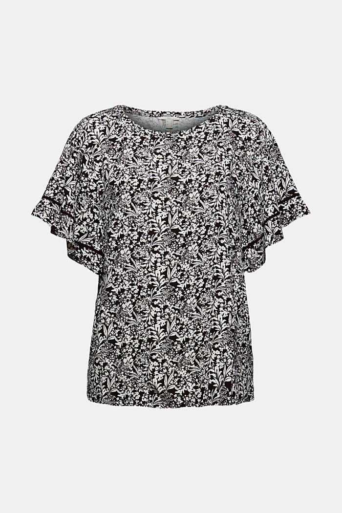 Patterned blouse top made of LENZING™ ECOVERO™