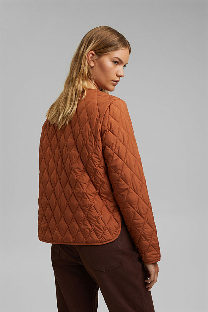 Lightweight quilted jacket made of recycled materials, CINNAMON, detail image number 3
