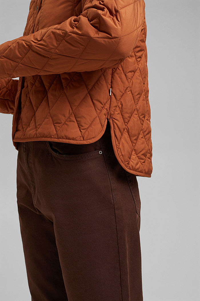 Lightweight quilted jacket made of recycled materials, CINNAMON, detail image number 2