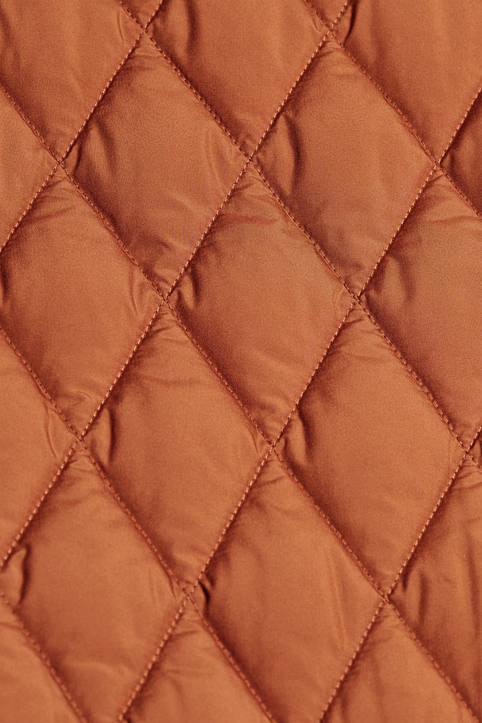 Lightweight quilted jacket made of recycled materials, CINNAMON, detail image number 4