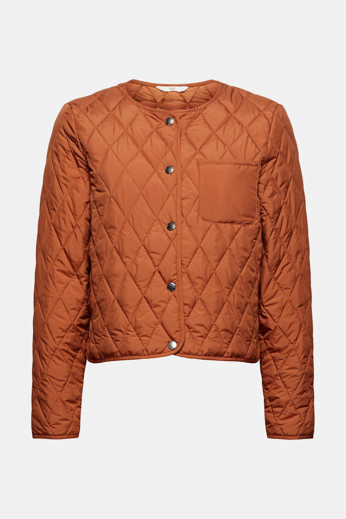 Lightweight quilted jacket made of recycled materials