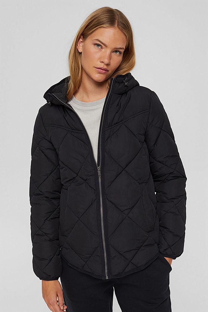 Gerecycled: gewatteerde jas met 3M™ Thinsulate™, BLACK, detail image number 0