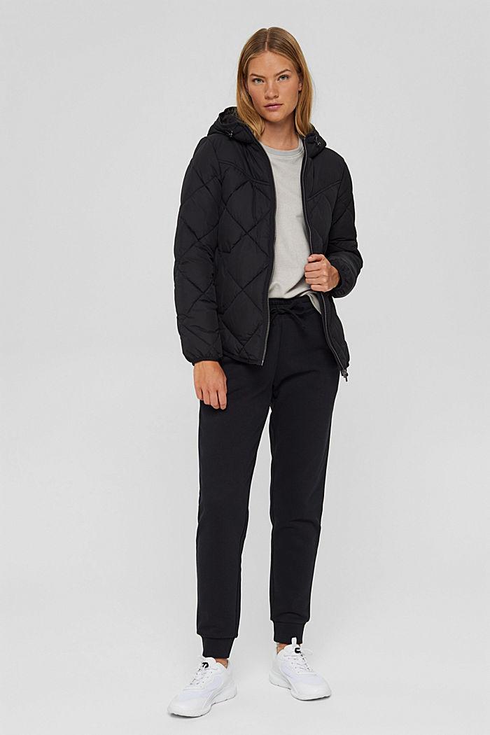 Gerecycled: gewatteerde jas met 3M™ Thinsulate™, BLACK, detail image number 1