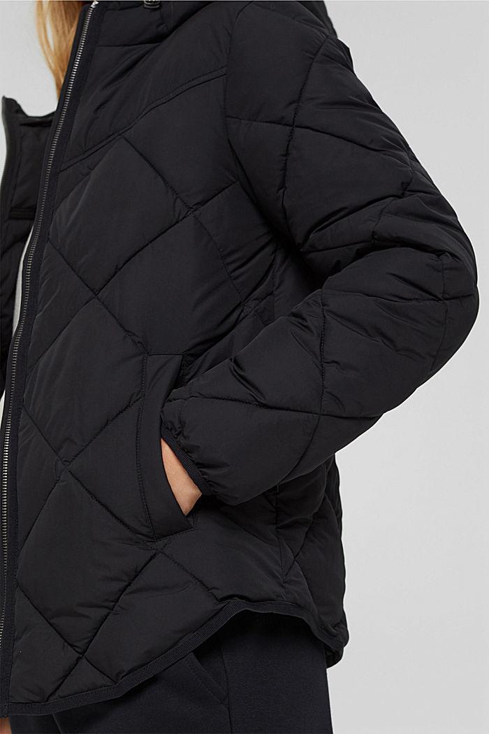 Gerecycled: gewatteerde jas met 3M™ Thinsulate™, BLACK, detail image number 5