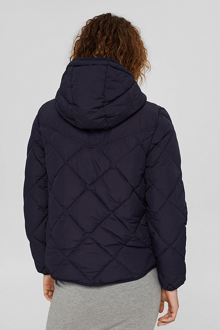En matière recyclée: la veste matelassée à teneur en 3M™ Thinsulate™, NAVY, detail image number 2