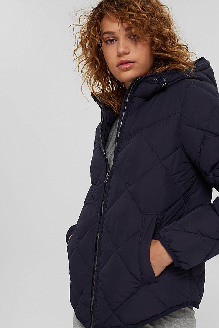 En matière recyclée: la veste matelassée à teneur en 3M™ Thinsulate™, NAVY, detail image number 5