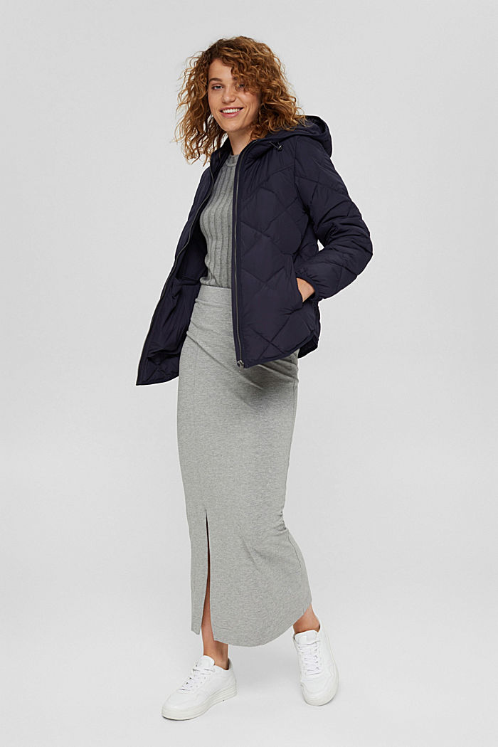 Recycelt: Steppjacke mit 3M™ Thinsulate™, NAVY, detail image number 0