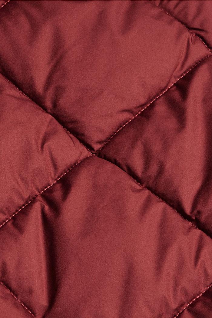 Reciclada: cazadora acolchada con relleno Thinsulate™ de 3M™, GARNET RED, detail image number 4
