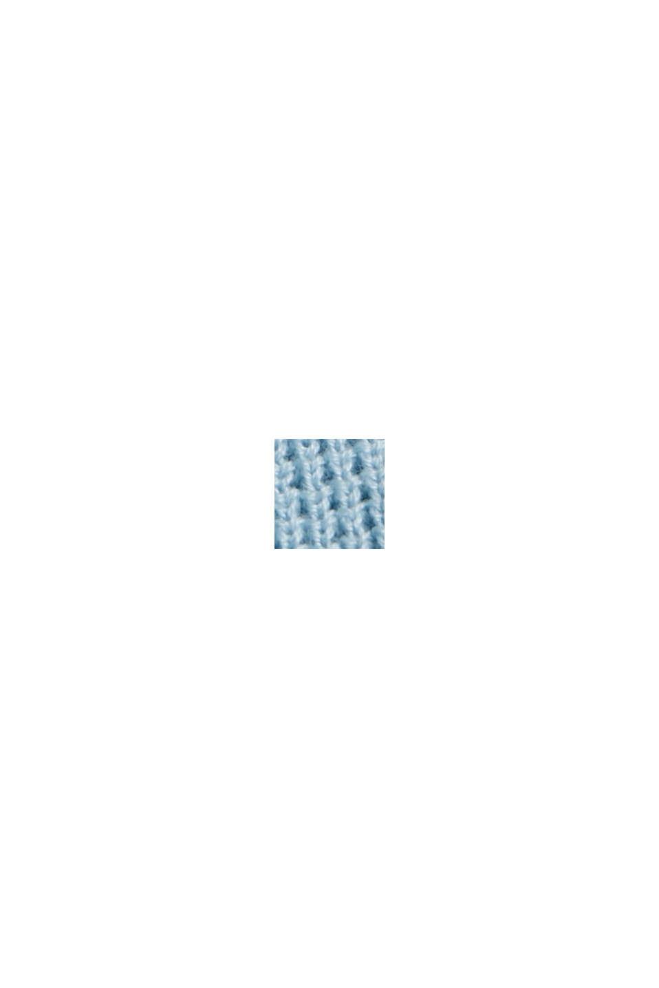 Kurzarm-Pullover aus 100% Bio-Baumwolle, LIGHT BLUE, swatch