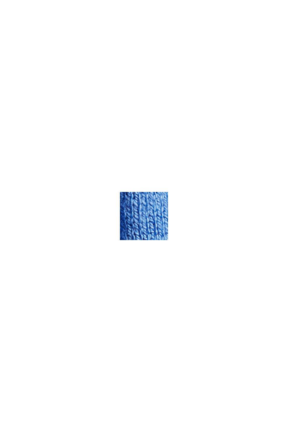 Rippstrickpullover aus Bio-Baumwoll-Mix, BRIGHT BLUE, swatch