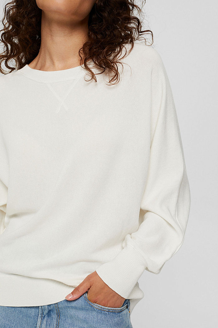 Trui van 100% organic cotton, OFF WHITE, detail image number 2