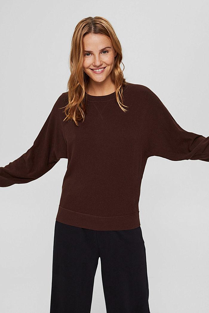 Pullover aus 100% Organic Cotton, BROWN, detail image number 0