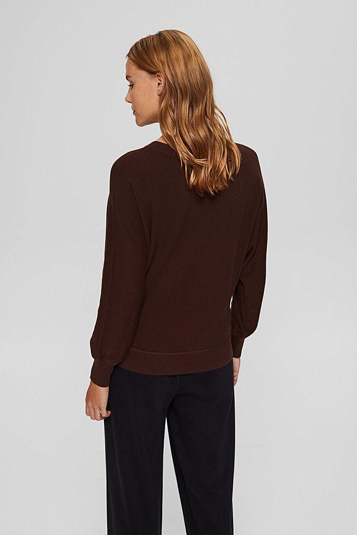 Pullover aus 100% Organic Cotton, BROWN, detail image number 3