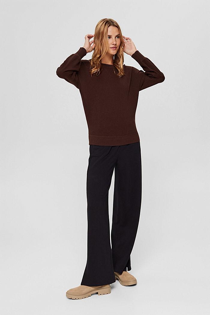 Pullover aus 100% Organic Cotton, BROWN, detail image number 5