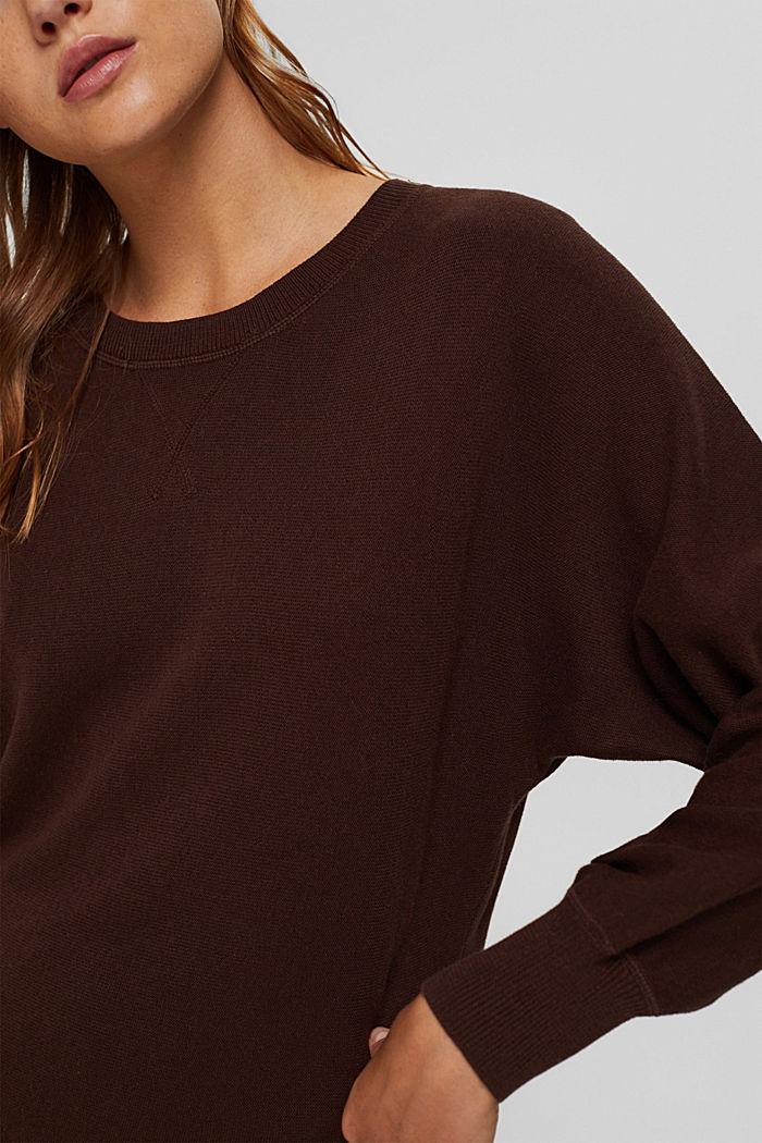 Pullover aus 100% Organic Cotton, BROWN, detail image number 2
