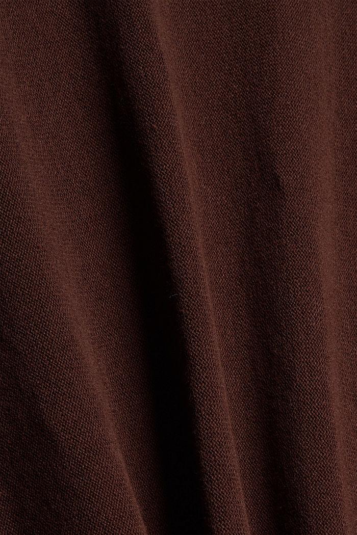 Pullover aus 100% Organic Cotton, BROWN, detail image number 4