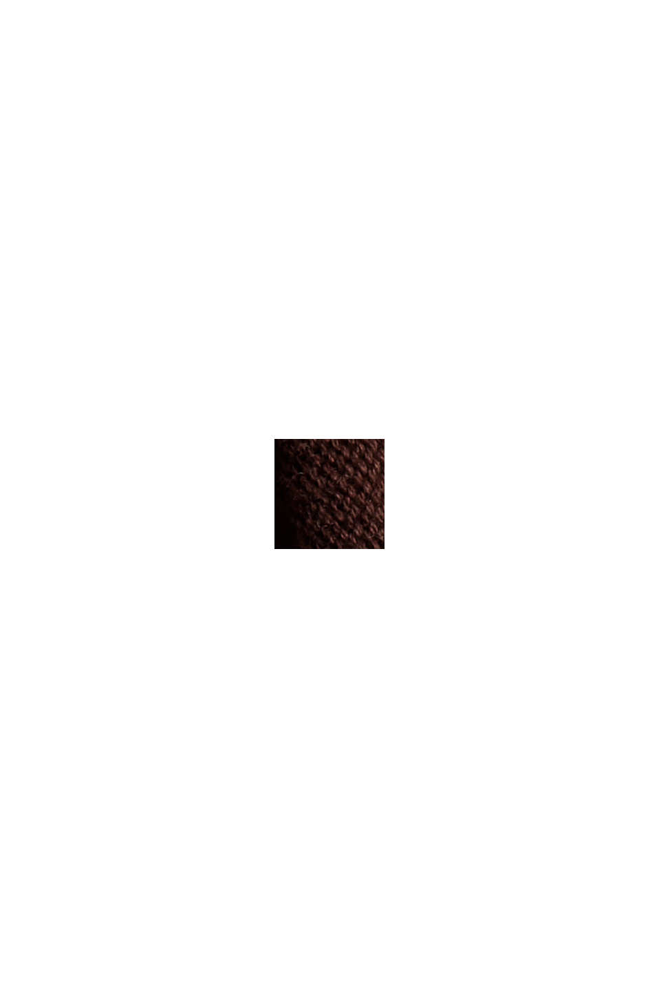 Pullover aus 100% Organic Cotton, BROWN, swatch