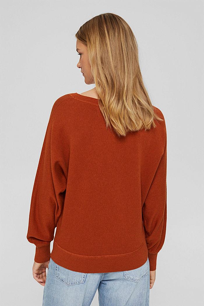 Pullover aus 100% Organic Cotton, RUST ORANGE, detail image number 3