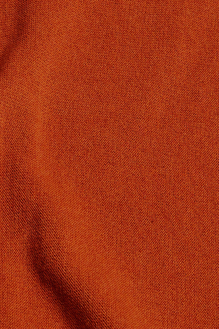 Pullover aus 100% Organic Cotton, RUST ORANGE, detail image number 4
