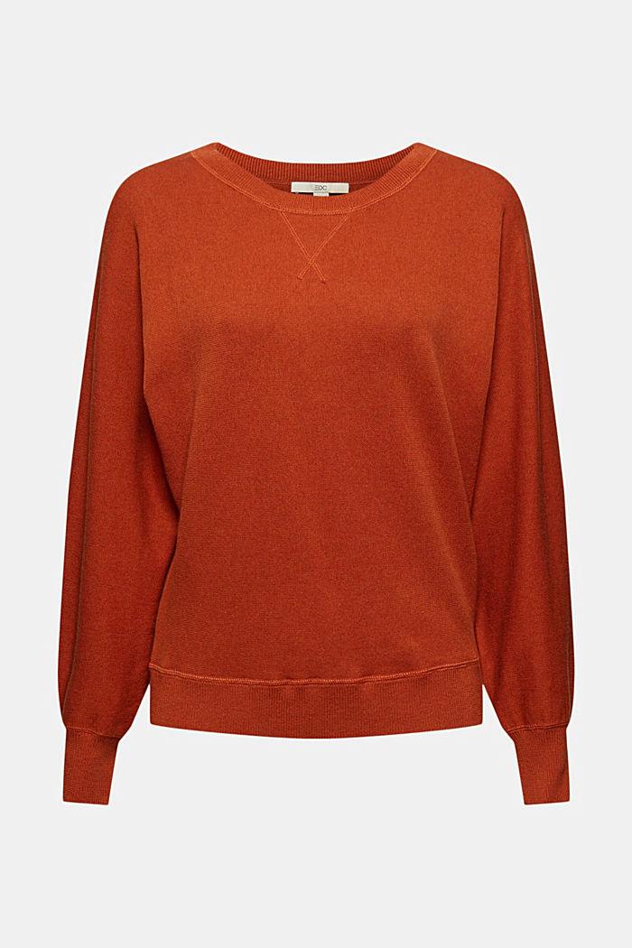 Pullover aus 100% Organic Cotton, RUST ORANGE, detail image number 6