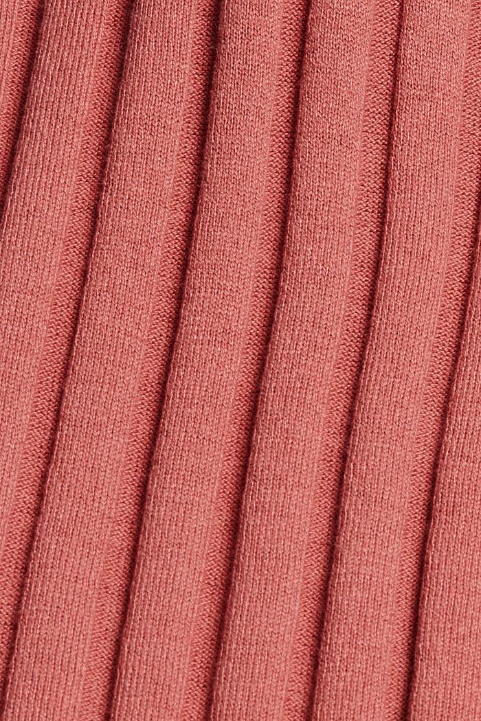 Ärmelloser Stehkragen-Pullover, Bio-Baumwoll-Mix, CORAL, detail image number 4