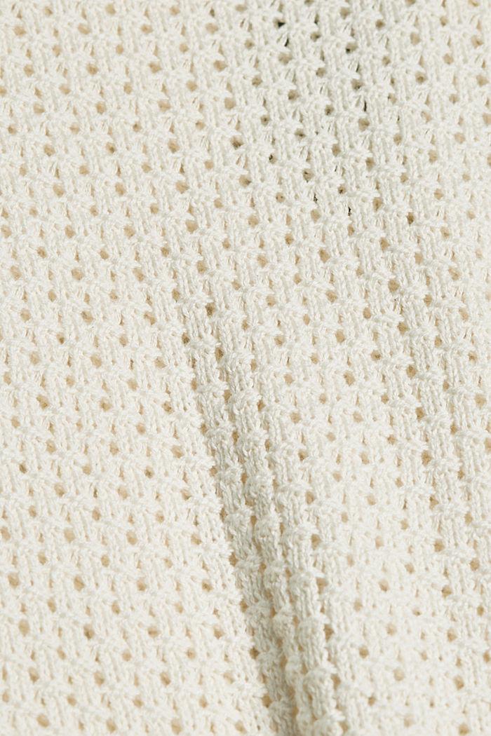 Pull-over en maille à capuche, coton biologique, LIGHT BEIGE, detail image number 4