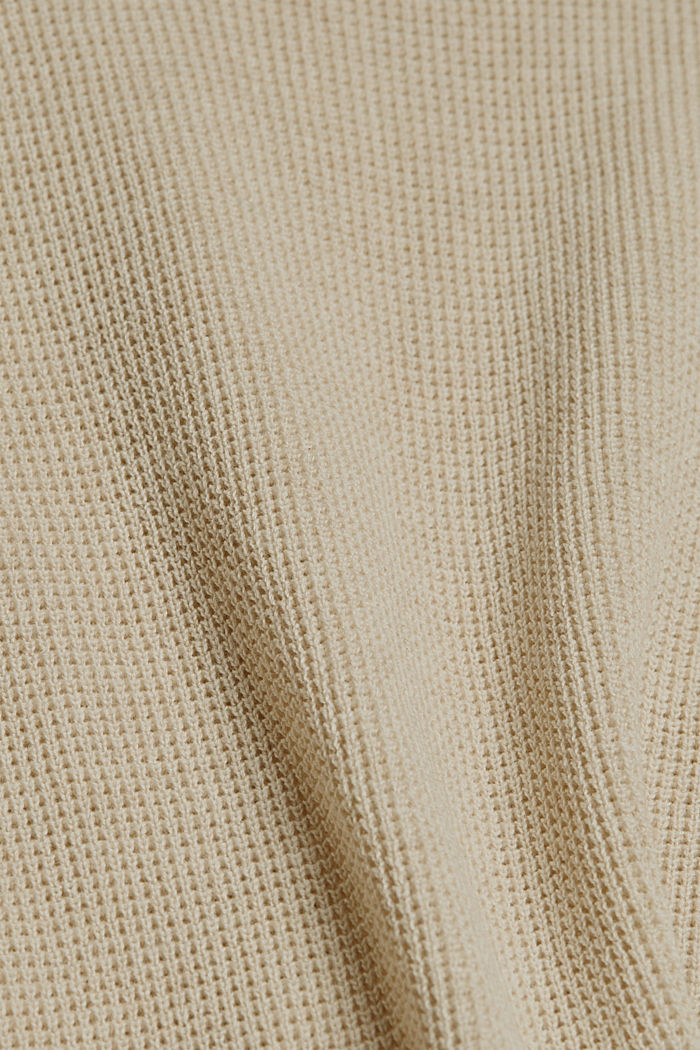Jumper with short sleeves, organic cotton, BEIGE, detail image number 4