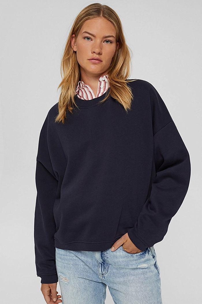 Sweat-shirt en coton biologique mélangé