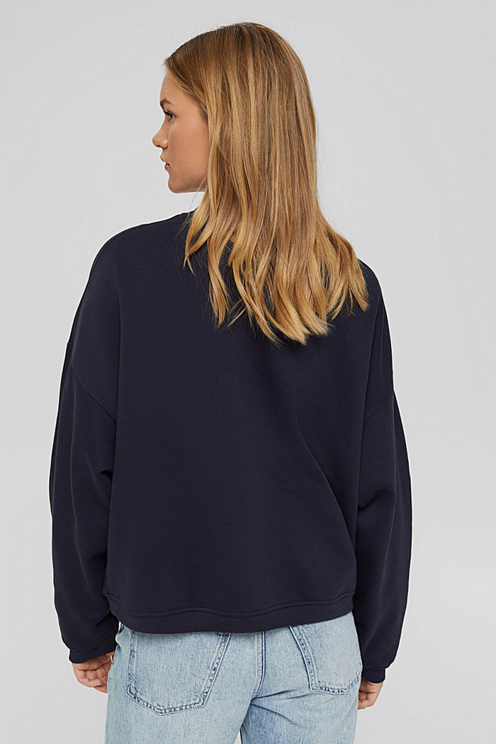 Sweatshirt aus Bio-Baumwoll-Mix, NAVY, detail image number 3