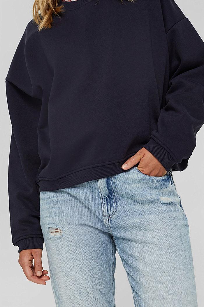 Sweatshirt aus Bio-Baumwoll-Mix, NAVY, detail image number 2