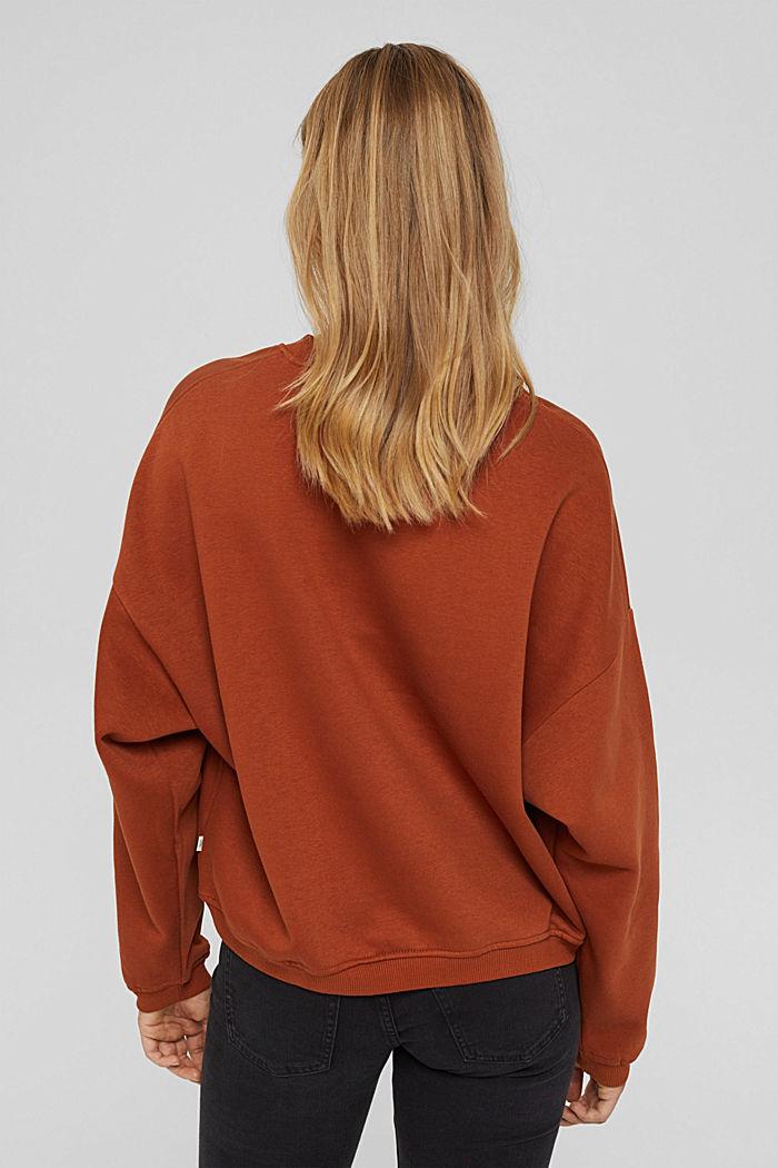 Sweater van een mix met biologisch katoen, RUST ORANGE, detail image number 3