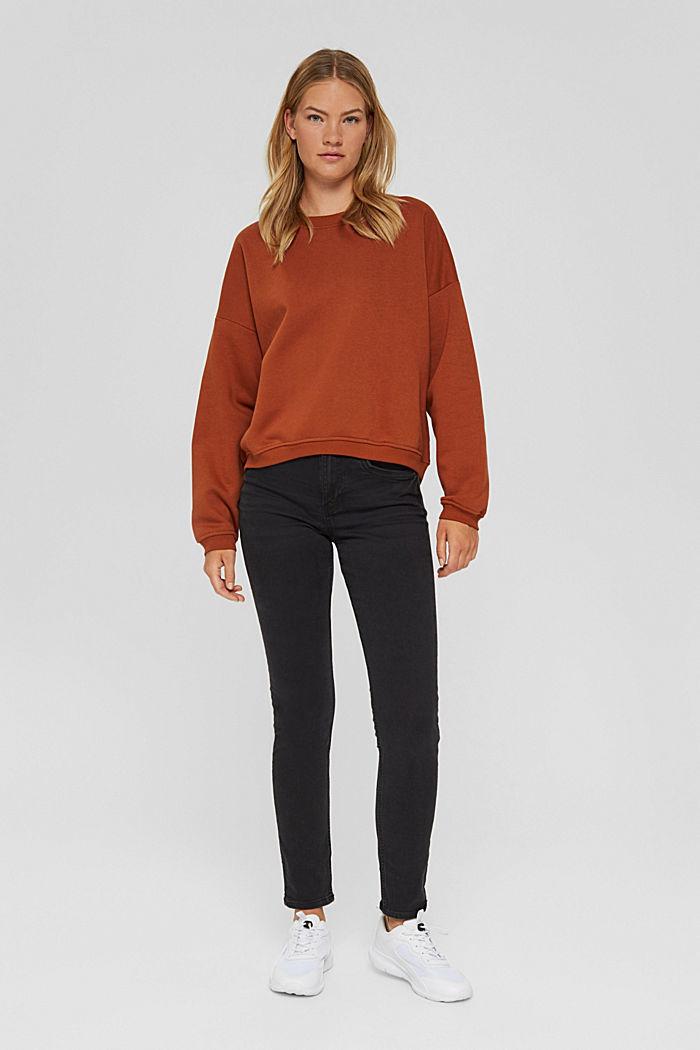 Sweater van een mix met biologisch katoen, RUST ORANGE, detail image number 1