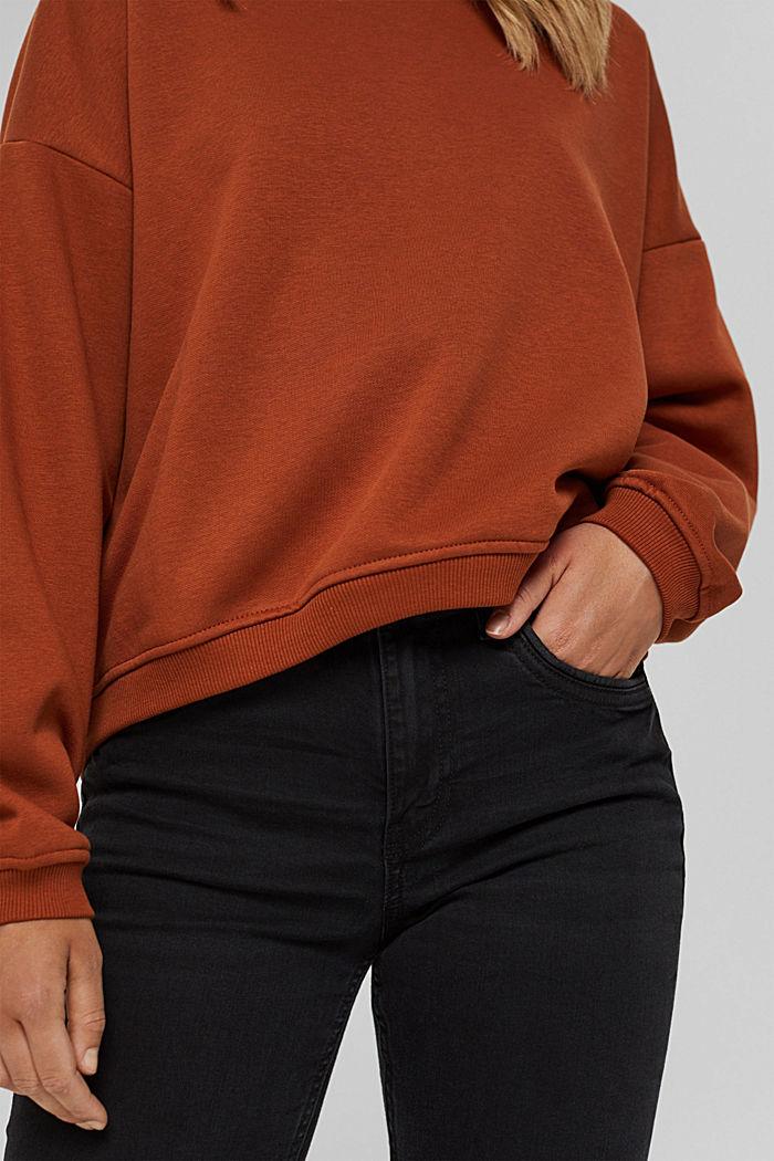 Sweater van een mix met biologisch katoen, RUST ORANGE, detail image number 2