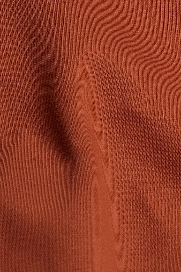 Sweater van een mix met biologisch katoen, RUST ORANGE, detail image number 4