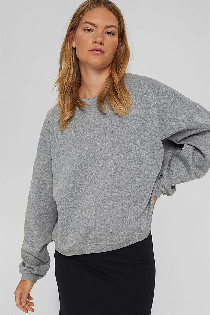 Sweatshirt aus Bio-Baumwoll-Mix, MEDIUM GREY, detail image number 0