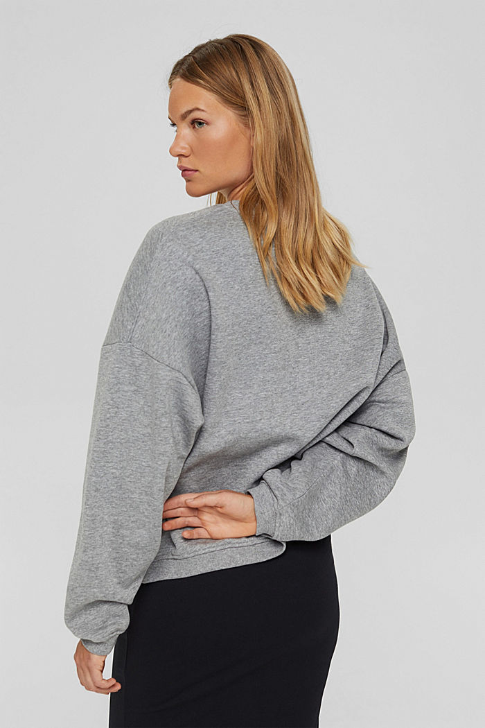 Sweatshirt aus Bio-Baumwoll-Mix, MEDIUM GREY, detail image number 3