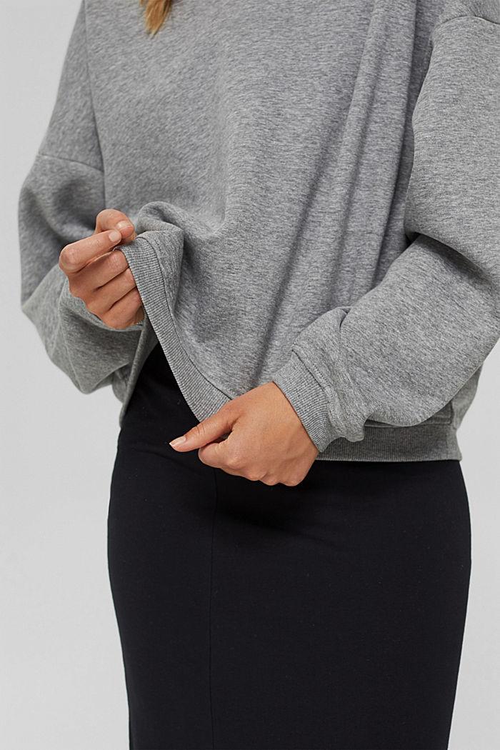 Sweatshirt aus Bio-Baumwoll-Mix, MEDIUM GREY, detail image number 2