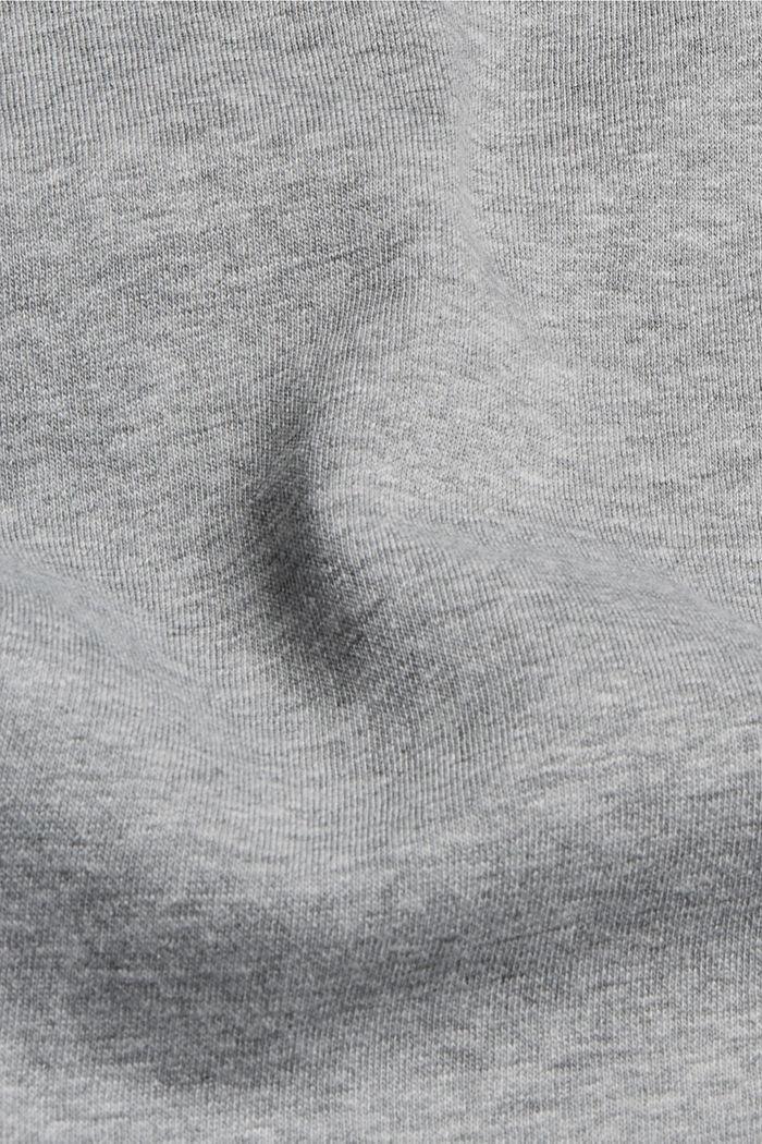 Sweatshirt aus Bio-Baumwoll-Mix, MEDIUM GREY, detail image number 4