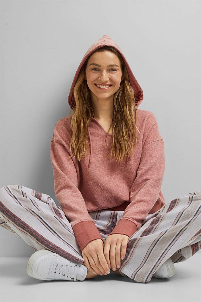 Melange hoodie made of blended organic cotton