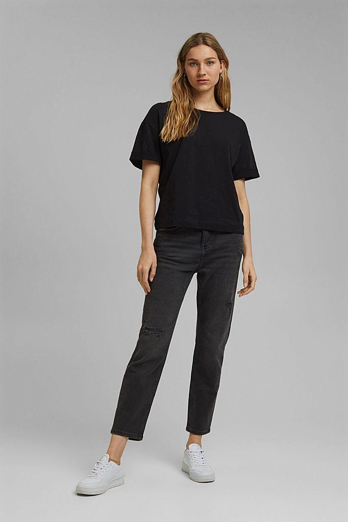 T-Shirt aus 100% Bio-Baumwolle, BLACK, detail image number 5