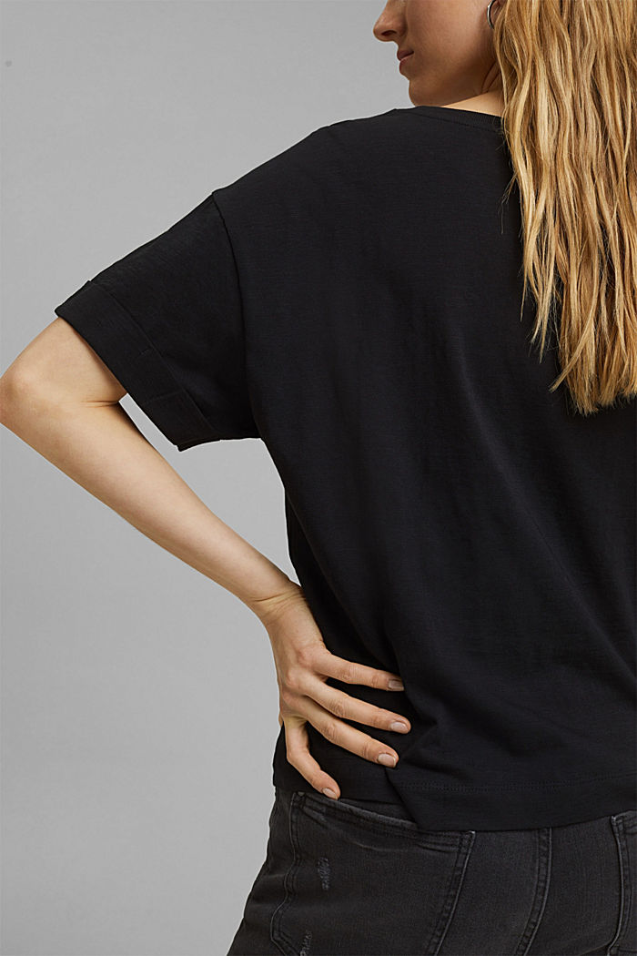 T-Shirt aus 100% Bio-Baumwolle, BLACK, detail image number 2