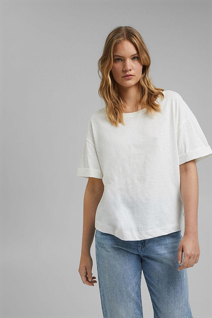T-Shirt aus 100% Bio-Baumwolle, OFF WHITE, detail image number 0