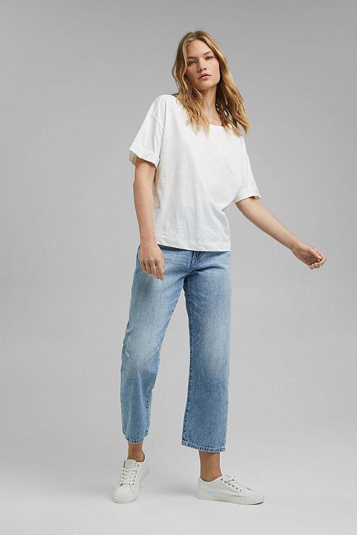 T-Shirt aus 100% Bio-Baumwolle, OFF WHITE, detail image number 1