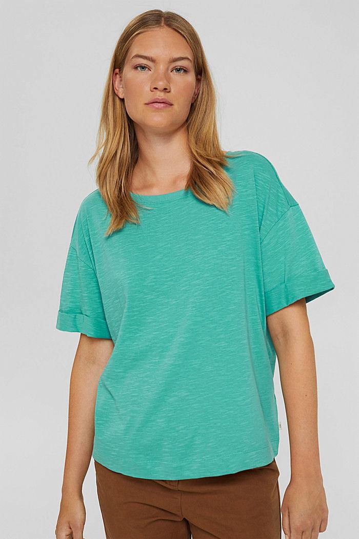 T-Shirt aus 100% Bio-Baumwolle, AQUA GREEN, detail image number 0