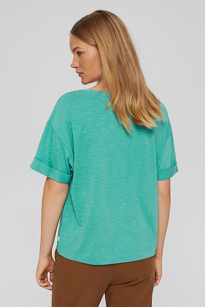 T-Shirt aus 100% Bio-Baumwolle, AQUA GREEN, detail image number 3