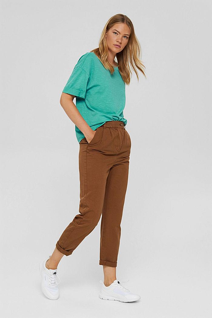 T-Shirt aus 100% Bio-Baumwolle, AQUA GREEN, detail image number 1