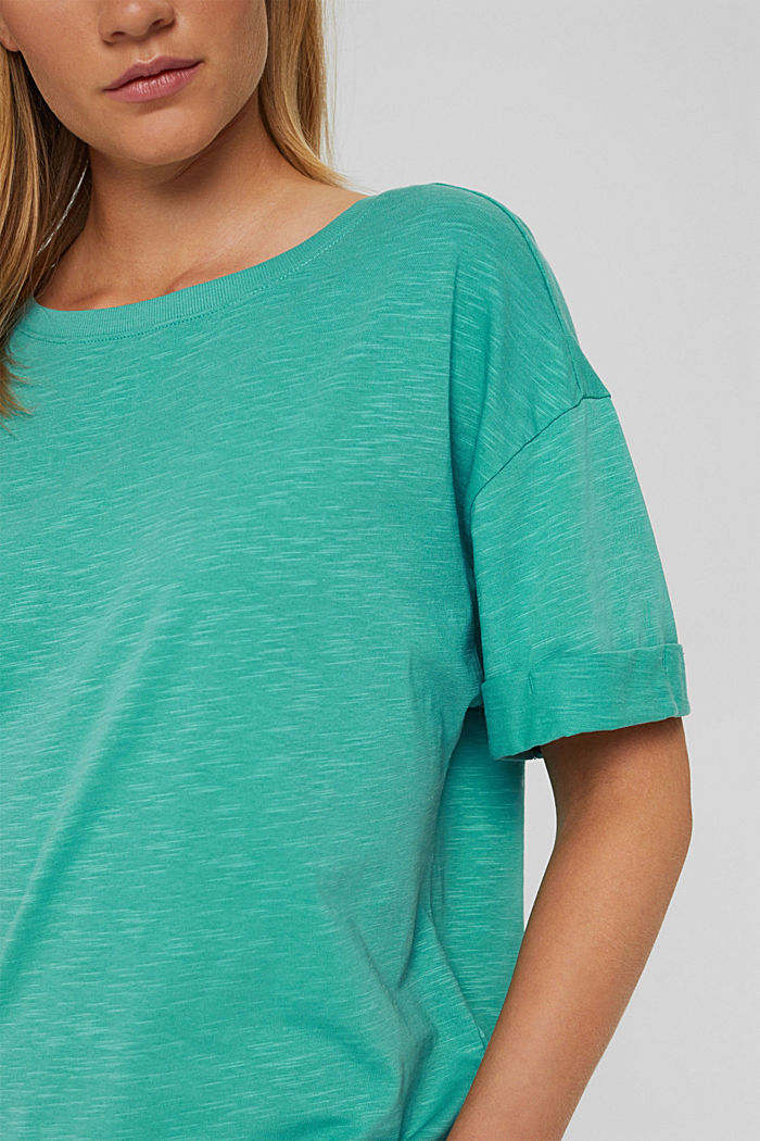 T-Shirt aus 100% Bio-Baumwolle, AQUA GREEN, detail image number 2