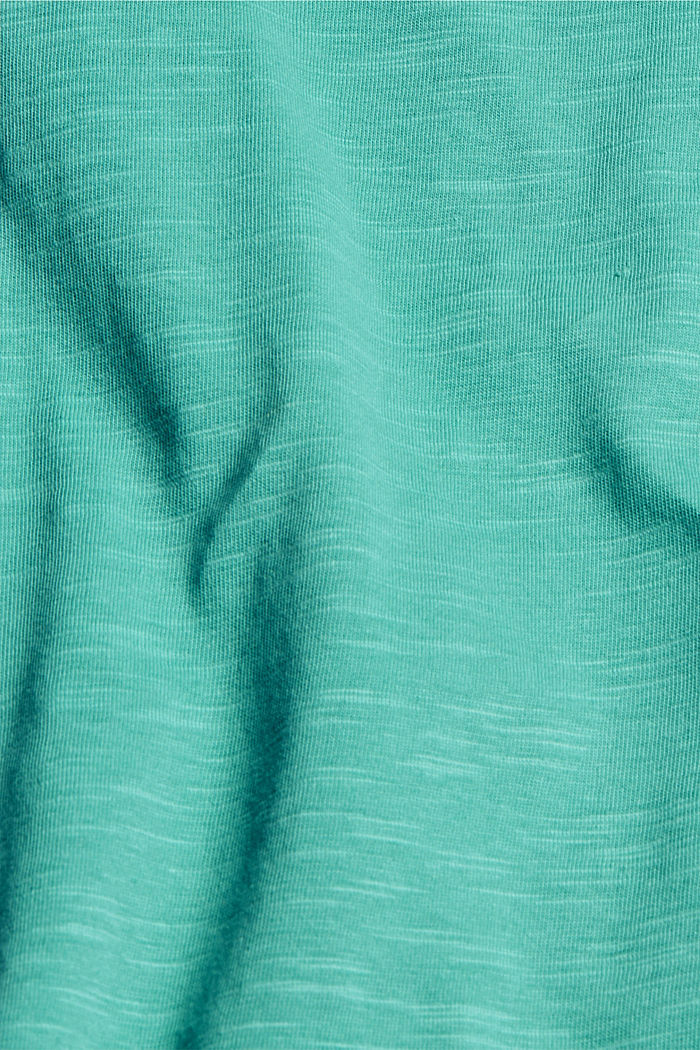 T-Shirt aus 100% Bio-Baumwolle, AQUA GREEN, detail image number 4