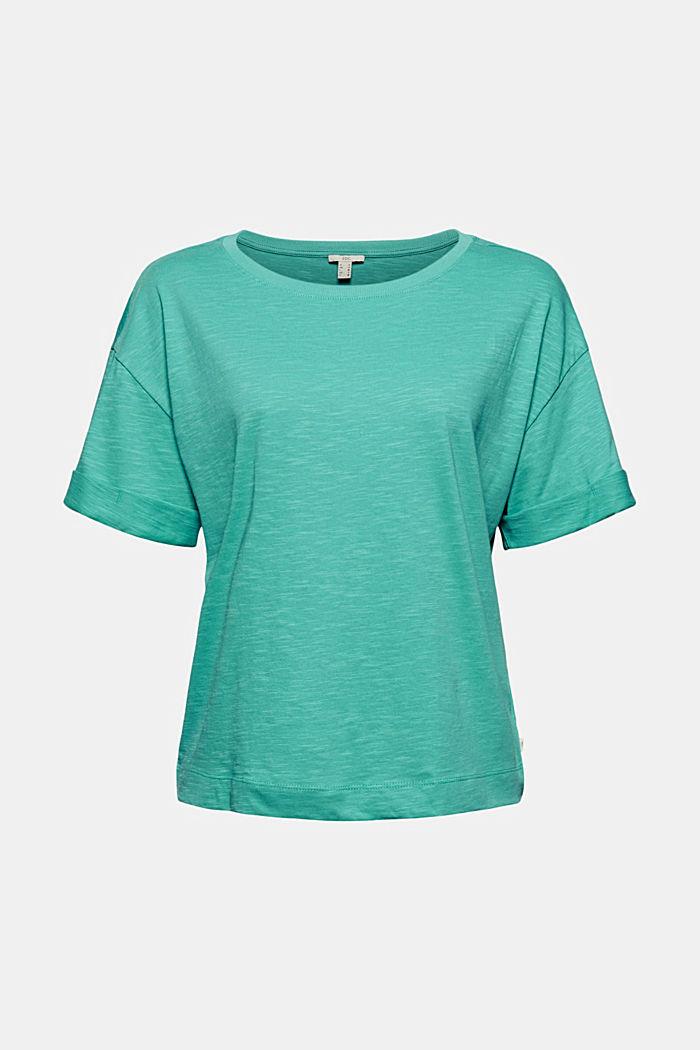 T-Shirt aus 100% Bio-Baumwolle, AQUA GREEN, detail image number 5